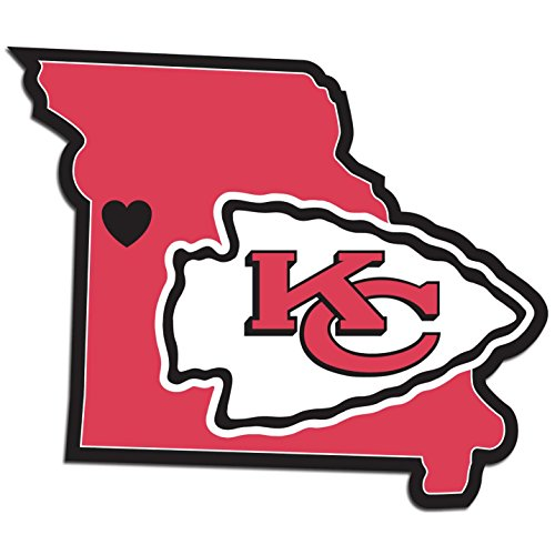 NFL Kansas City Chiefs Home State Decal, 5