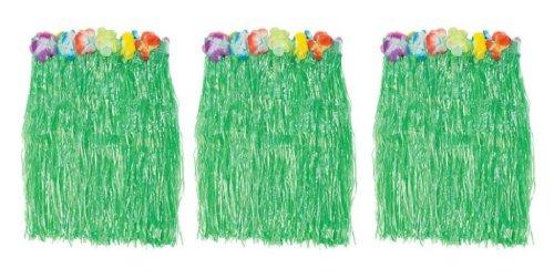 Flowered Green Skirts Floral Waistbands