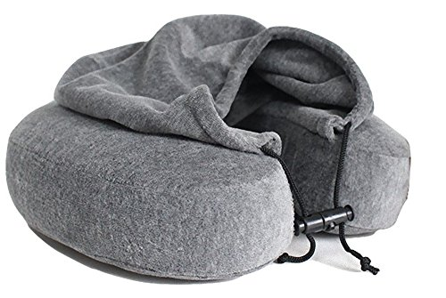 Luxury-Quality-Memory-Foam-Neck-Pillow-with-Hoodie-Lovely-Carrying-Bag-Quality-Velvet-Fabric-Travel-Pillow-Comfortable-U-Shaped-Pillow-Perfect-Gift-Idea-by-Genuine-Picks