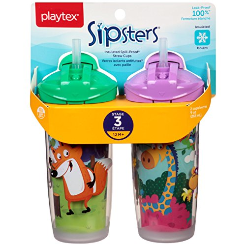 Playtex Playtime Insulator Straw Cup, 9 oz, 2 ct by Playtex (Image #2)