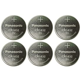 Panasonic CR1632-6 CR1632 3V Lithium Coin Battery (Pack of 6)