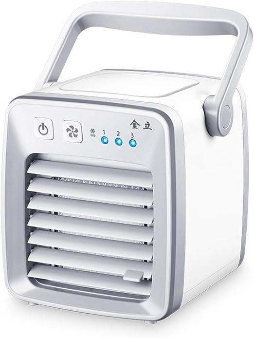 Enfriador De Aire, Ventilador De Aire Acondicionado Silencioso Portátil Para Personal, Enfriador Y Purificador De Aire Evaporativo De Escritorio USB Mini Para Oficina, Viaje En El Hogar, Al Aire Libre: Amazon.es: Hogar