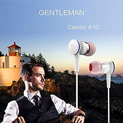 Langsdom® A10 Hifi Fidelity Sound Earpods Dynamic Dual Drivers, Lightweight & Sporty In-Ear Noise-Isolating Metal Earbuds Headphones Stereo Rich Bass Earphones