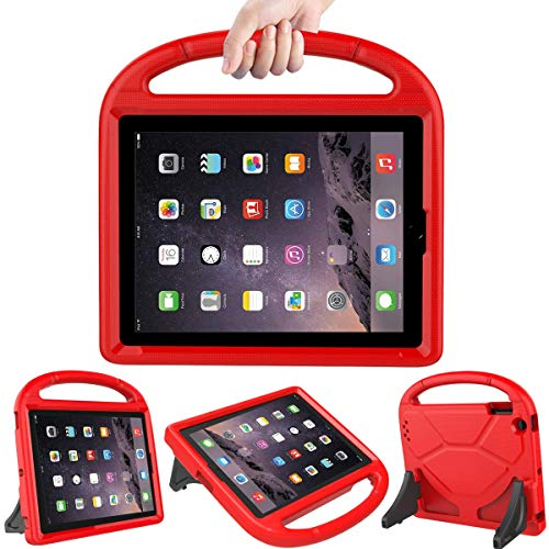 LEDNICEKER Kids Case for iPad 2 3 4 - Light Weight Shock Proof Handle Friendly Convertible Stand Kids Case for iPad 2, iPad 3rd Generation, iPad 4th Gen Tablet - Red (Cases That 2 Up Ipad Stand)