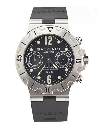 Bvlgari Diagono Stainless Steel Automatic Mens Watch SCB 38 S (Certified Pre-Owned)
