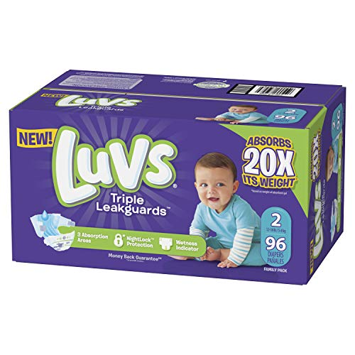 Luvs Luvs Triple leakguards Diapers Size 2 96 Count, 96 Count