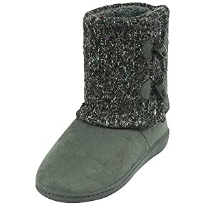Forfoot Indoor Women Slippers Winter Warm Soft Fleece Bootie Slippers House Shoes