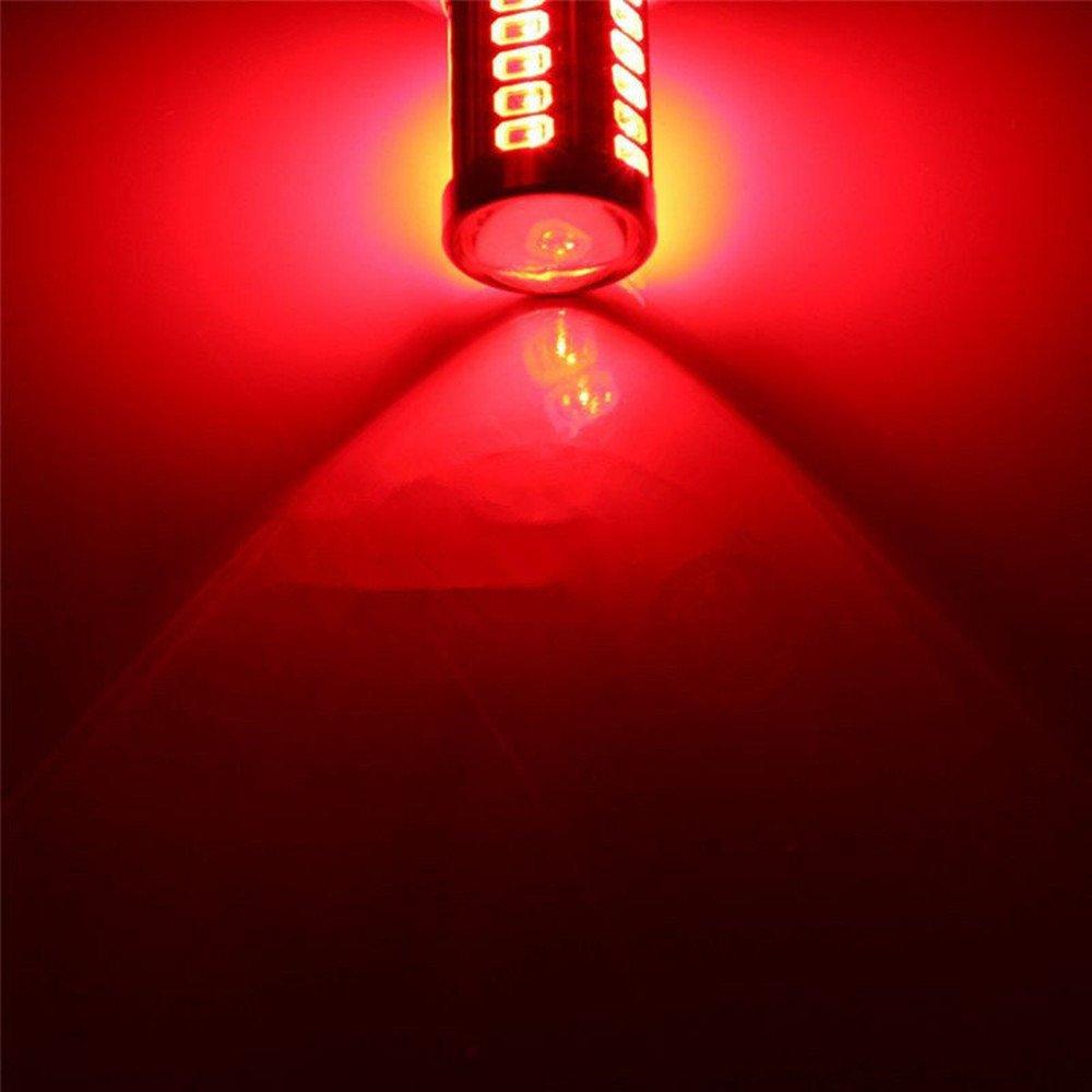 paquete de 2 Rojo 2pcs Bombillas LED Super brillante coche 1156 BAU15S PY21W Amarillo /Ámbar 33SMD 5730 5630 Alta potencia LED luz diurna inversa Bombilla de estacionamiento Car-styling Color