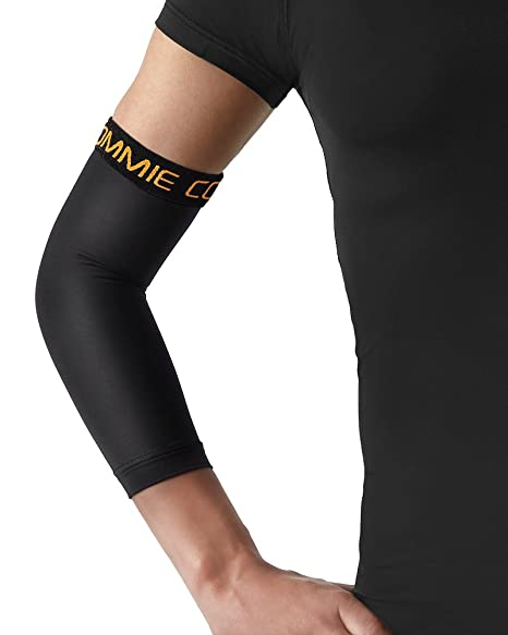 eca4046534 Amazon.com: Tommie Copper Elbow Sleeve, Black, Small: Sports & Outdoors