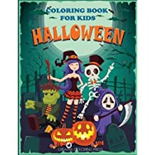 Halloween Coloring Book for Kids: Halloween Designs Including Witches, Ghosts, Pumpkins, Haunted Houses, and More! (Kids Halloween Books)