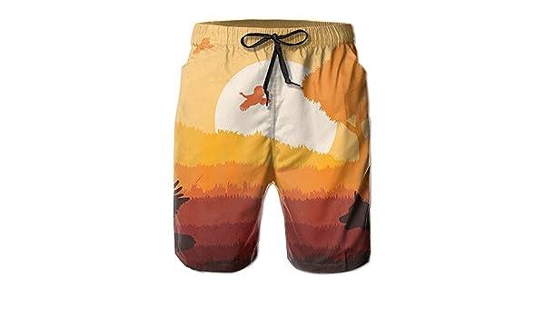 KAFJDOIQ Cute Ladybug Cool Man Beach Swim Shorts Outdoor Sport Home Running