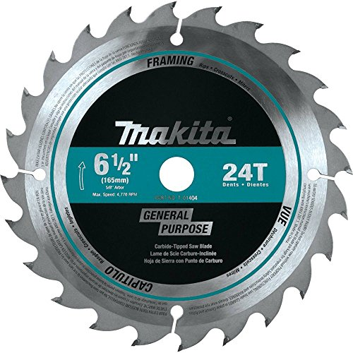 (Makita T-01404 24T Framing Carbide-Tipped Saw Blade, 6-1/2