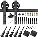 "FIXKIT 6.6ft Heavy Duty Sturdy Sliding Track Barn Door Hardware Kit, Fit 36""-40"" Wide DoorPanel, Simple and Easy to Install"