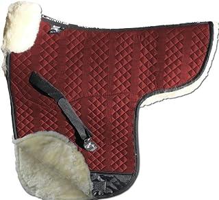 ENGEL GERMANY Tapis de selle DE LUXE en peau de mouton couleur coton rouge (Sadek 3) Combinez-vous avec 12 coleur de peau de mouton Engel Reitsport