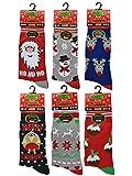 3x Pairs of Ladies Novelty Fun Christmas Socks