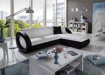 Exklusiv Sofa sam sofa garnitur weiß schwarz onda l 236 x 180 cm ottomane