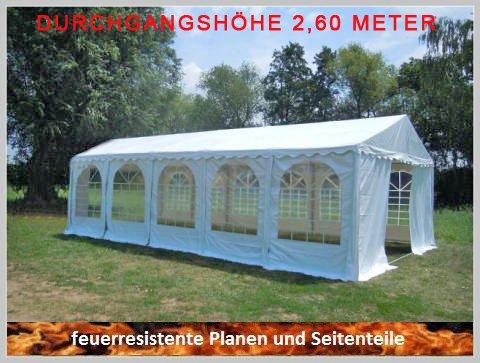 Pavillon Pavillion Festzelt Partyzelt Giant Pro PVC FR XXL 5x10m 10x5m 5x10 10x5 mit Fenster