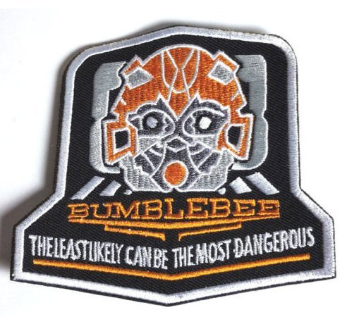 Transformers Bumblebee Logo Embroidery Velcro Patch (Stealth Bumble Bee)