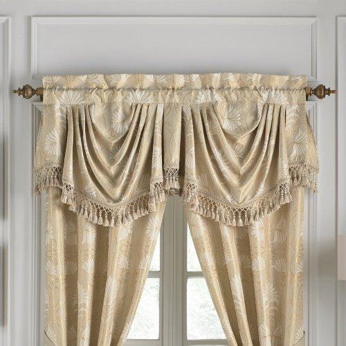 Croscill Miriam Verona Window Valance, Gold Ivory, 19x54 ()