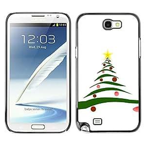 chen-shop design YOYO Slim PC / Aluminium Case Cover Armor Shell Portection //Christmas Holiday Tree 1194 //Samsung Note 2 high quality