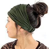 Casualbox mens Head cover Band Bandana Stretch Hair Style Japanese Khaki