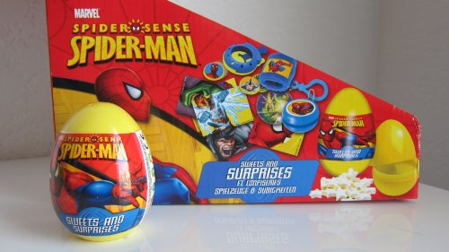 Disney Spiderman SURPRISE egg in a plastic shell with toy and stickers inside- 1 ct- IMPORTED from EUROPE