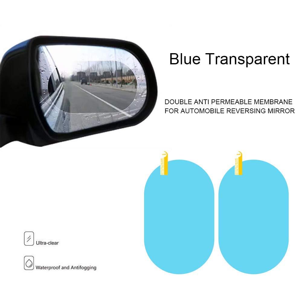 Water Mist Glare Protective Stickers 145MMX100mm Universal Cars Trucks Bus SUV Screen Ornament Rear View Mirror Window Clear Oval Dust RosinKing Car Rearview Mirror Film 4 PCS Anti-fog