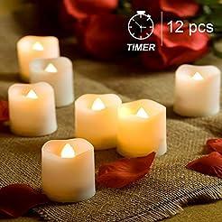 Homemory Timer Tea Lights Bulk, Set of 1...