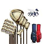 WYSTAO-Complete-Golf-Club-Set-Completo-12-Pezzo-Uomo-con-Il-Sacchetto-GrafiteAcciaio-Set-comprende-Titanio-Driver-di-Golf-Set-Uomo