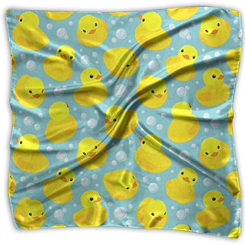 PINGMINDIAN Women's Handkerchief Cute Yellow Duck Square Neck Scarf Hair Scarves Wrap Headscarf as picture-Small