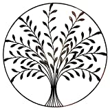 Bellaa 9004 Metal Wall Art Tree of Life Metal Wall Sculpture