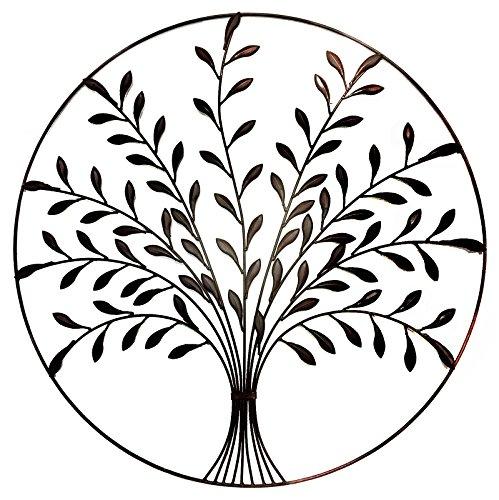 Bellaa 9004 Metal Wall Art Tree of Life Olive Branch 30