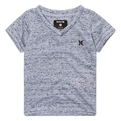 Hurley Boys' Little Basic T-Shirt, Black/White, 7 - Hurley Kids Shirt