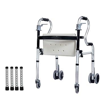 Andador de peso ligero de cuatro ruedas, andador, portátil ...