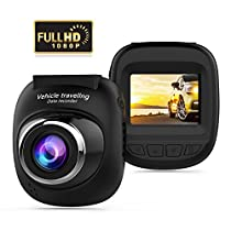Mini Dash Cam, Full HD 1080P Car Camera with 140° Wide Angle, G-sensor, Loop Recording, Motion Detection