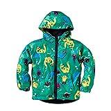 Child Raincoat - SODIAL(R) Children Hooded Jacket Boys Girls Jackets Coats Children's Coat Spring/Autumn Fashion Children Raincoat Clothing(Green 5T=120CM)