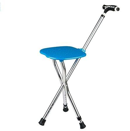 Smart Folding Walking Stick Taburete multifunción Portable Crutch ...