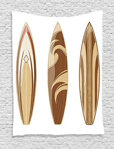 Amazon.com: Surfboard Wall Art Tapestries Wooden Surfboards ...