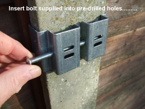 Postfix Slotted Concrete Fence Post Brackets to Fit 4