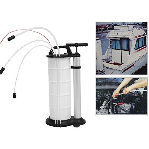 Bomba de desagüe, 9L Bomba de aspiradora extracción vaciado vacío de aceite gasolina Diesel Manual para coche moto vehículo barco: Amazon.es: Coche y moto