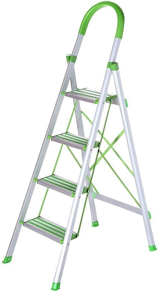 GWXSST Escalera Telescópica Escalera Plegable multifunción Escalera de 4 escalones Escalera de barandilla para el hogar Escalera de Espiga Engrosamiento Escalera de ingeniería portátil: Amazon.es: Hogar