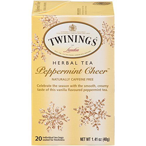 : Twinings Pure Peppermint Herbal Tea, 1.41 Ounce Box, 20 Count