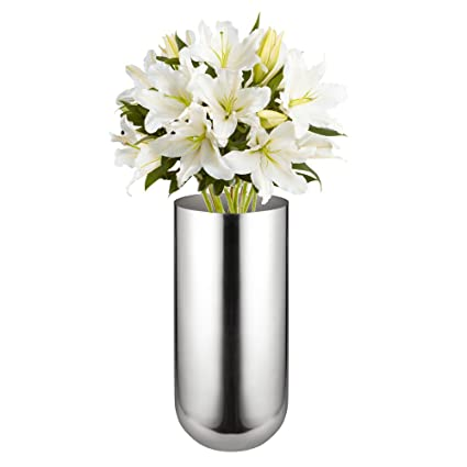 225 & Feyarl Flower Vase Stainless Steel Decorative Vase for Home Party Wedding Centerpiece 9\