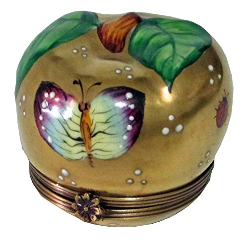 Hand painted Collectible Limoges box, Golden Apple
