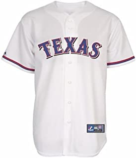 hot sale online 6e2e3 9f3ef Amazon.com : Majestic Athletic Texas Rangers Full-Button ...