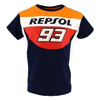 HONDA Repsol Marc Marquez 93 Moto GP Panel Azul Niños Camiseta Oficial 2018 d3dcec366ad