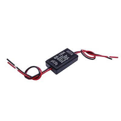 HUIQIAODS Flash Strobe Controller for LED Brake Light Tail Stop Light Auto Car 12-24V LED Brake Flasher Stop Light Strobe Flasher (GS-100A): Automotive