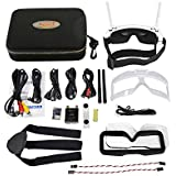 Skyzone SKY02S V+ 3D 5.8G 40CH FPV Goggles Video Glasses Tracker with Transmitter Camera Head Tracking HDMI-IN Channel DVR - White