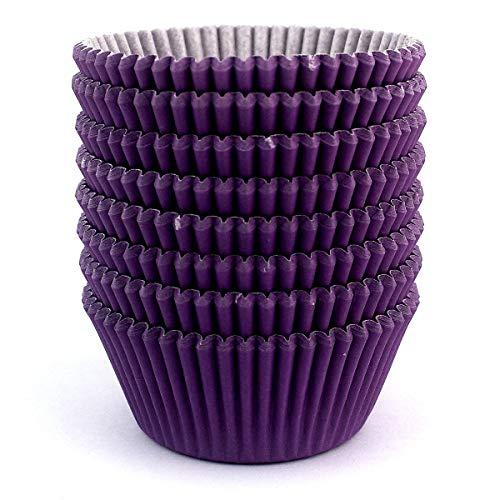 Eoonfirst Standard Size Baking Cups 200 Pcs (Purple)]()