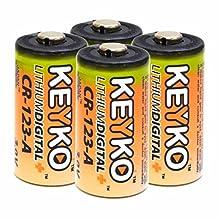 CR 123A 3V Volts 3 volt 1550mAh 123 DL123A SF123A Lithium Batteries TACTICAL FLASLIGHT construction Original Genuine KEYKO ® -4 Pcs BULK Pack